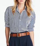 Polo Ralph Lauren Striped Box-Pleat Cotton Shirt