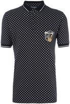 Dolce & Gabbana polka dot polo shirt - men - Silk/Cotton/Plastic/glass - 46