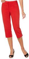Rafaella Petites Solid Crisscross-Cuff Cropped Pants