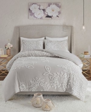 Madison Home USA Veronica King/California King 3-Pc. Tufted Cotton Chenille Floral Comforter Set Bedding