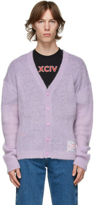 GCDS Purple Puffy Cardigan