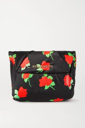 Bernadette BERNADETTE - Belinda Knotted Floral-print Satin Clutch - Black