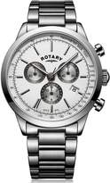 Rotary Cambridge Silver Chrono Dial Silver Strap Bracelet Mens Watch