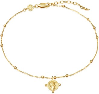 Missoma Lucy Williams Gold Beaded Coin Anklet