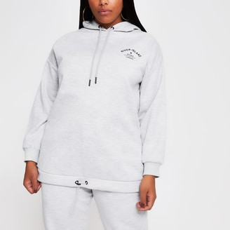 River Island Womens Grey long sleeve back print hoody