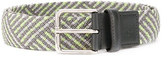 Canali Buckled Woven Belt