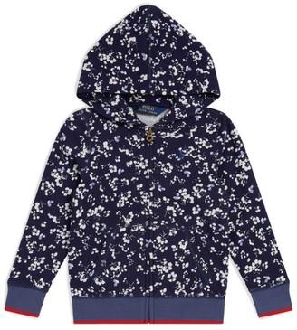 Ralph Lauren Kids Floral Zip-Up Sweater (2-4 Years)