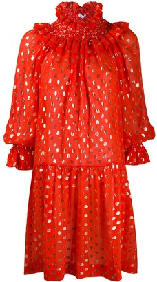 P.A.R.O.S.H. Polka Dot Flared Dress
