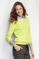 Classic Women's Drifter Cable Boatneck Sweater-Dark Tangerine Tropical Floral