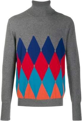 Ballantyne argyle knit jumper
