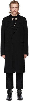 Ann Demeulemeester Black Wool Coat