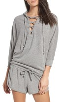 Chaser Women's Lace-Up Lounge Hoodie