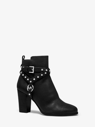 MICHAEL Michael Kors Preston Studded Leather Ankle Boot