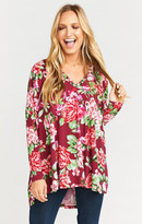 MUMU Skylar Slouch Top ~ Bloomsberry Spandy