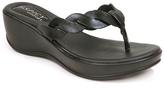 Black Woven Wedge Sandal