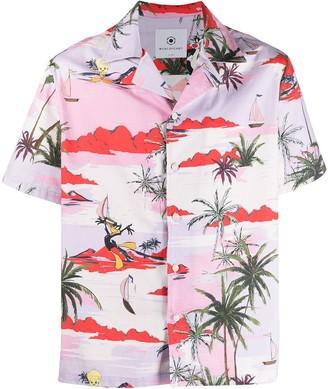 Moa Master Of Arts Hawaiian Daffy Duck-print cotton shirt