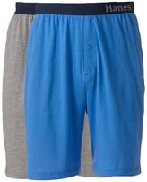 Hanes Men's 2-pk. Solid Knit Lounge Shorts
