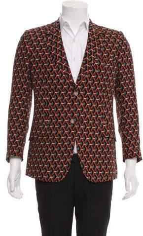 Gucci Lattice Print Silk Blazer w/ Tags