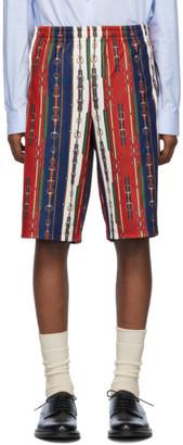 Gucci Red Horsebit Print Shorts