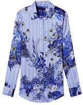 Banana Republic Dillon-Fit Floral Stripe Shirt