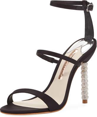 Sophia Webster Rosalind Satin Crystal-Heel Sandal