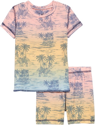PJ Salvage Tropical Print Two-Piece Pajamas
