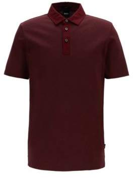 BOSS Slim-fit polo shirt in stretch-cotton jacquard