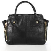 Botkier Black Leather Gold Tone Hardware Leroy Satchel Handbag New $398 90034513