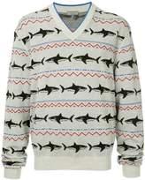 Lanvin shark intarsia jumper