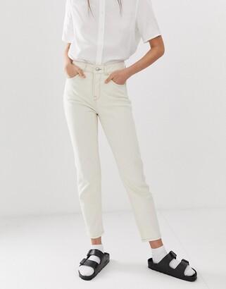Selected ecru mom jeans