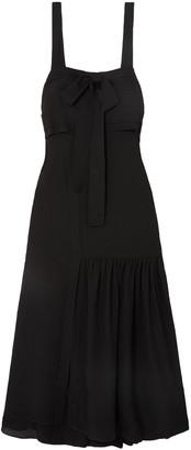 3.1 Phillip Lim Layered Bow-detailed Cutout Silk-crepe Maxi Dress