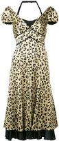 Cinq A Sept - leopard print dress - women - Silk/Polyester - 0