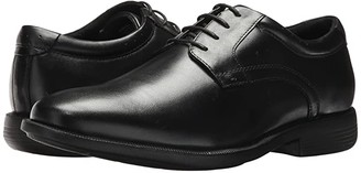 Nunn Bush Devine Plain Toe Oxford with KORE Walking Comfort Technology (Black) Men's Lace up casual Shoes