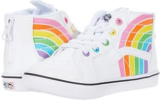 Vans Kids ComfyCush SK8-Hi Zip (Infant/Toddler) ((Flour Shop) Rainbow/True White) Kid's Shoes