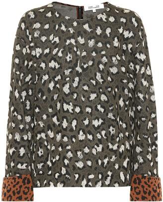 Diane von Furstenberg Leopard-print jacquard sweatshirt