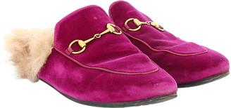 Gucci Princetown Pink Velvet Flats