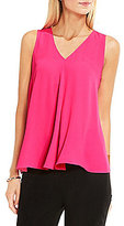 Vince Camuto Drape-Front Sleeveless Blouse