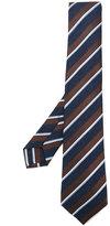 Kiton diagonal stripe tie - men - Silk/Cotton/Wool - One Size