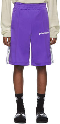 Palm Angels Purple Track Shorts
