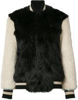 Opening Ceremony fur effect bomber jacket - women - Cotton/Acrylic/Modacrylic - XS
