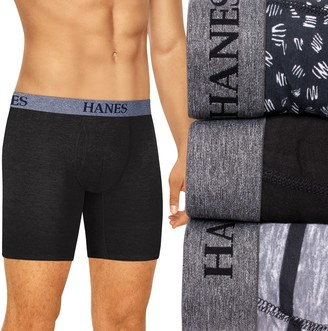 Hanes Men's Ultimate 3-pack Tagless Stretch Boxer Briefs