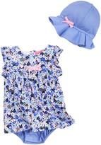 Isaac Mizrahi Ditsy Floral Sundress & Sunhat Set (Baby Girls 0-9M)