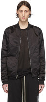 Rick Owens Reversible Black Cropped Flight Bomber Jacket