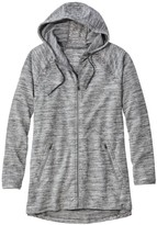 L.L. Bean L.L.Bean Women's Beanas Cozy Full-Zip Hooded Sweatshirt, Marled