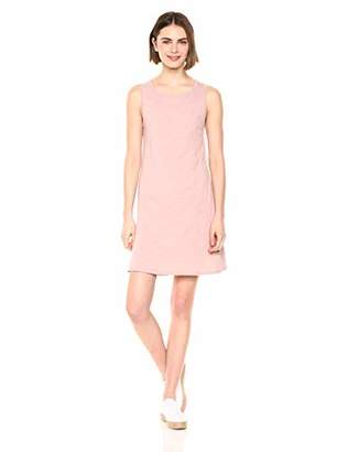 Daily Ritual Lived-In Cotton Sleeveless Boat-Neck Dress Casual,(EU 2XL)