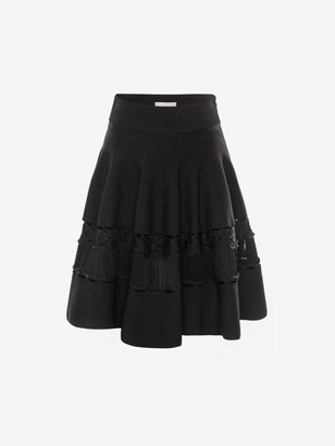 Alexander McQueen Engineered Ottoman Knit Skirt