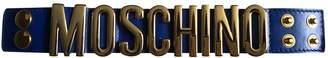 Moschino Blue Leather Bracelets