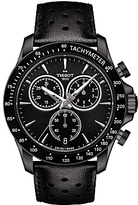 Tissot T1064173605100 V8 Chronograph Date Leather Strap Watch, Black