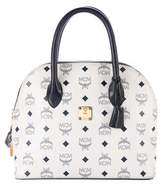 MCM Visetos Leather Dome Bag