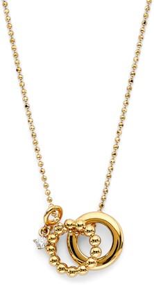 AJOA Lala Interlocking Ring Pendant Necklace